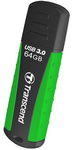 Transcend - JetFlash 810 USB 3.0 Super Speed Rugged Flash Drive - 64GB Green