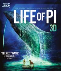 Life of Pi (3D Blu-ray) - Cover