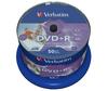 Verbatim Wide Photo Printable No ID Brand 4.7GB DVD+R (16x) - 50 Pack Spindle