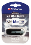 Verbatim V3 USB Drive 16GB USB 3.0 Flash Drive - Grey