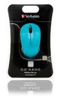 Verbatim GO NANO Wireless Mouse USB - Caribbean Blue