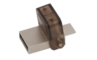 Kingston Micro OTG Drive 16GB USB 2.0 DataTraveler MicroDuo USB Flash Drive - Cover