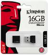 Kingston DataTraveler Micro 16GB USB 2.0 Flash Drive - Black