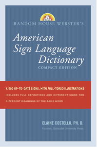 Random House Webster's Compact American Sign Language Dictionary - Elaine Costello (Paperback) - Cover
