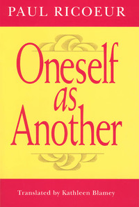 Oneself As Another - Paul Ricoeur (Paperback) - Cover