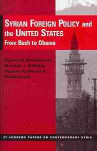 Syrian Foreign Policy and the United States - Raymond Hinnebusch (Paperback) - Cover