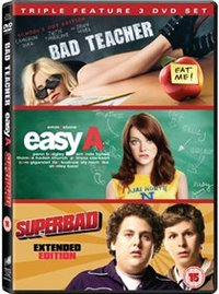 Bad Teacher/Easy A/Superbad (DVD) - Cover