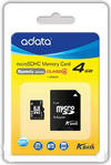 ADATA 4Gb microSDHC with SD Adapter Class 4