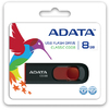 ADATA C008 8GB Capless Sliding USB Flash Drive - Black and Red
