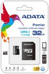 ADATA Premier 32GB MicroSDHC UHS-I U1 Class10 Memory Card + Adapter
