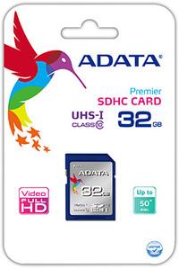 ADATA Premier 32GB SDHC UHS-I U1 Class10 Memory Card - Cover