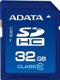 ADATA SDHC V2 Class 10 High Speed 32GB SD Memory Card - Cover