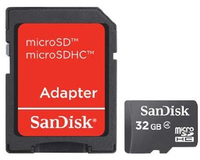 Sandisk 32GB MicroSDHC Class 4 Memory Card - Cover
