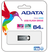 ADATA DashDrive UC510 64GB Flash Drive - Metalic Titanium - Cover
