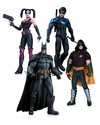 Arkham City Harley Quinn, Batman, Nightwing, and Robin 4 Pack - DC Collectibles (Toy) Cover