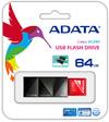 ADATA 64GB UC340 USB 3.0 Flash Drive - Black/Red