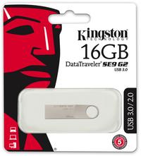Kingston DataTraveler SE9 G2 16GB USB 3.0 Flash Drive - Silver - Cover