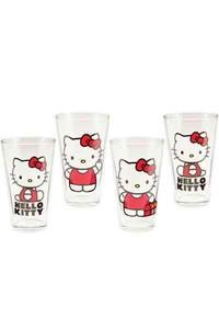 Hello Kitty 4pc. 16 Oz. Glass Set - LLC Vandor (Accessory) - Cover