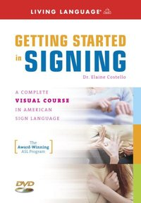 Getting Started in Signing - Elaine Costello (Hardcover) - Cover