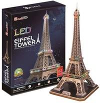 CubicFun - Eiffel Tower with LED Unit 3D Puzzle (85 Pieces) - Cover