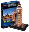 CubicFun - Big Ben (UK) with LED Unit 3D Puzzle (28 Pieces)