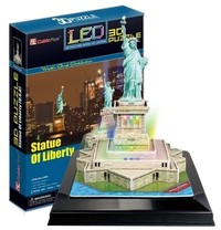 CubicFun - Statue of Liberty (USA) with LED unit 3D Puzzle (37 Pieces) - Cover