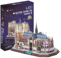 CubicFun - Notre Dame Paris (France) with LED Unit 3D Puzzle (149 Pieces) - Cover