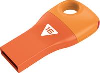 Emtec D300 - USB 2.0 Flash Drive - Car Key - 16GB - Orange - Cover