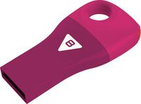 Emtec D300 - USB 2.0 Flash Drive - Car Key - 8GB - Pink - Cover