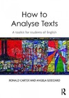 How to Analyse Texts - Ronald Carter (Paperback)