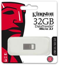 Kingston DataTraveler Micro USB 3.1 - 32GB Flash Drive - Cover