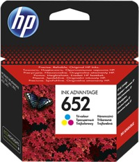 HP 652 Tri-Colour Original Ink Advance Cartridge - Cover