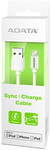 ADATA Sync and Charge Lightning Cable - White (100cm)
