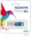 ADATA C008 32GB Capless Sliding USB Flash Drive - White and Blue
