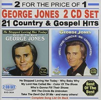 George Jones - 21 Country & Gospel Hits (CD) - Cover