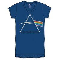 Pink Floyd DSOTM Back Print Navy Ladies T-Shirt (Small) - Cover