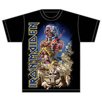 Iron Maiden Somewhere Back in Time Jumbo Mens T-Shirt (Large) - Cover