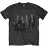 The Beatles Mens Walking In London on Logo Dark Grey T-Shirt (X-Large)