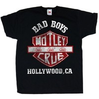 Motley Crue Bad Boys Shield Toddler T-Shirt 3/6 months (Small) - Cover