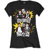 5 Seconds of Summer - Punk Pop Photo Ladies Black T-Shirt (Medium)