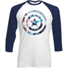 Marvel Comics Captain America Shield Knock Out Raglan Baseba (Large)