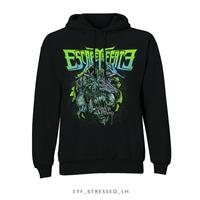 Escape The Fate Stressed Pullover Hoodie Black (Large) - Cover