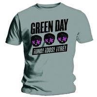 Green Day 3 Heads Better Than 1 Grey T-Shirt (Medium)