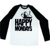 Happy Mondays Logo Raglan Baseball Long Sleeve T-Shirt (Small)