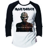 Iron Maiden Book Of Souls Raglan Baseball Long Sleeve T-Shirt (Small)