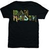 Iron Maiden Eddie Logo Mens Black T-Shirt (Large)