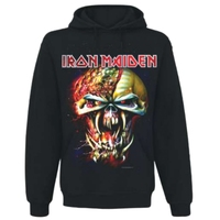 Iron Maiden Final Frontier Big Head Mens Hoodie (Small) - Cover