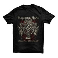 Machine Head Bloodstone & Diamond Men's Black T-Shirt (X-Large) - Cover