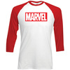 Marvel Comics Marvel Logo Raglan Baseball T-Shirt (XX-Large)