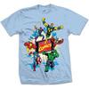 Marvel Comics Marvel Montage 4 Mens Blue T-Shirt (XX-Large)